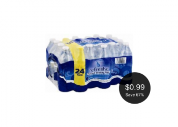 Signature SELECT refreshe Water Coupon, Pay Just $0.99 for 24 Pack This Weekend at Safeway