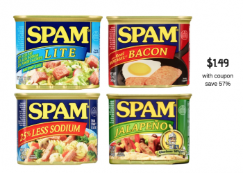 SPAM Luncheon Meat Coupon and Sale, Pay Just $1.49 Each at Safeway