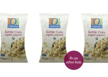 O Organics Kettle Corn for $1.99 at Safeway