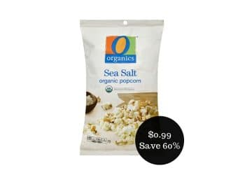 O Organics Popcorn Coupon = $0.99 for a Bag at Safeway