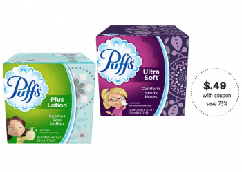 NEW Puffs Coupon & Sale, Pay $0.49 at Safeway