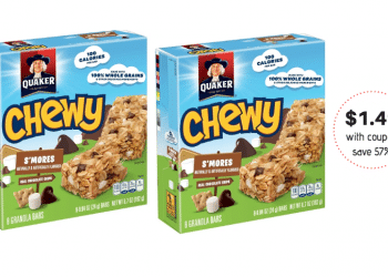 Quaker Chewy Granola Bars Just $1.49 With Sale and Coupon at Safeway
