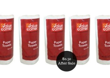 Value Corner Single Roll Paper Towels for $0.50 at Safeway | Grab & Go