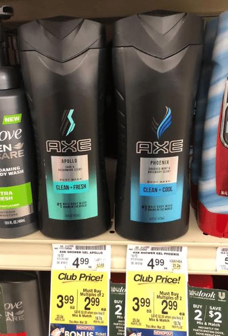 Axe Body Spray & Shower Gel $1 49 at Safeway- 70% Savings