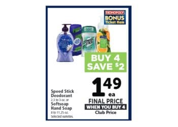 Softsoap & Speed Stick Coupons = Only $0.49 Each at Safeway