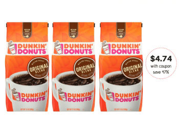 New Dunkin' Donuts Coffee Coupon Stack at Safeway, Save 47%