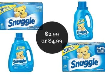 Snuggle Fabric Softener Coupons = $2.99 or $4.99 at Safeway