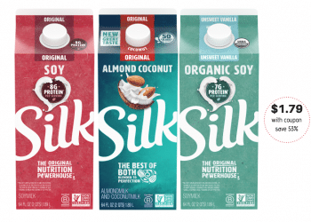 Save 53% on Silk Organic Soy Milk, Almond Milk, Coconut and Cashew Milk With Sale and Coupons at Safeway