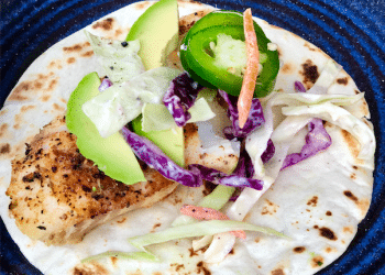 Spicy Cod Fish Tacos With Jalapeno Lime Slaw