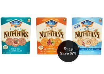 Blue Diamond Nut-Thins Coupon = $1.49 at Safeway (Save 61%)