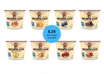 Brown Cow Yogurt Coupon and Sale, Pay Just $.25 a Cup at Safeway (Save 82%)