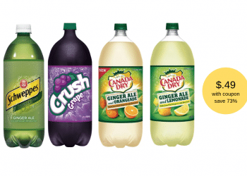Get Crush, Shweppes and Canada Dry 2 Liters for Just $.49 With Coupon at Safeway