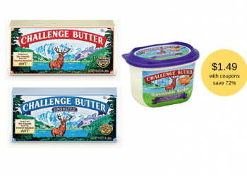 New Challenge Butter Coupons Available – Pay Just $1.49 each for 2 Pounds of Butter at Safeway