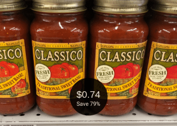 Classico Pasta Sauce Sale + Cash Back Offers = Pay as Low as $0.74