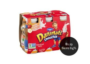 Danimals Smoothie Coupon = $1.19 for a 6 Pack at Safeway