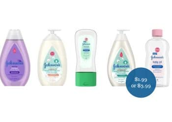 Johnson's Baby Products Coupons & Sale = as Low as $1.99 at Safeway