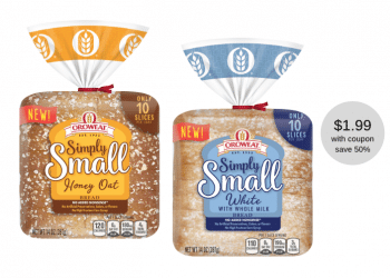 Oroweat Simply Small Bread Coupon and Sale, Pay Just $1.99