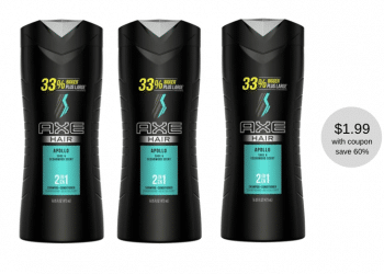 Pick Up AXE 2-in-1 Shampoo+Conditioner for Just $1.99 With Coupon at Safeway (Reg. $4.99)