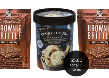 Sheila G's Brownie Brittle Deal = $5 TOTAL for 2 Bags & a Signature SELECT Ice Cream
