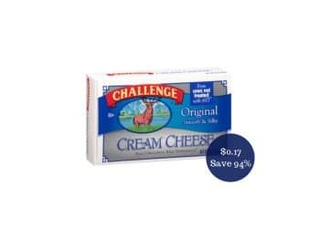 SUPER Challenge Cream Cheese Coupon Deal = as Low as $0.17 at Safeway