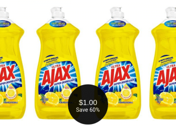 Ajax Coupon & Sale = $1.00 for Dish Soap at Safeway | Save 60%