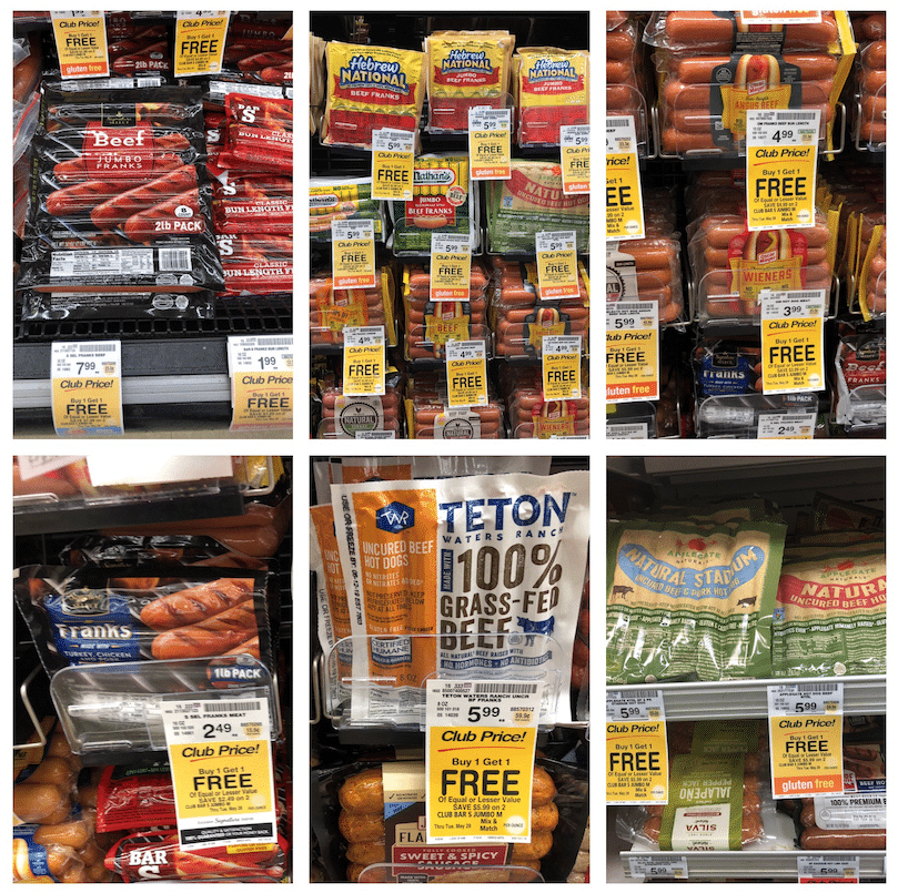 Buy One Get One Free Hot Dog Sale Safeway