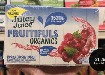 Juicy Juice Fruitfuls Organics Coupon & Sale at Safeway = $1.29 for Juice Boxes (8 Count)