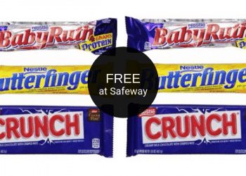 FREE Nestle Crunch, Butterfinger, or Baby Ruth Bars at Safeway | Save 100%