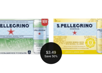 NEW S.Pellegrino Sparkling Mineral Water for $3.49 at Safeway After the Deal | That's $0.44 Per Can