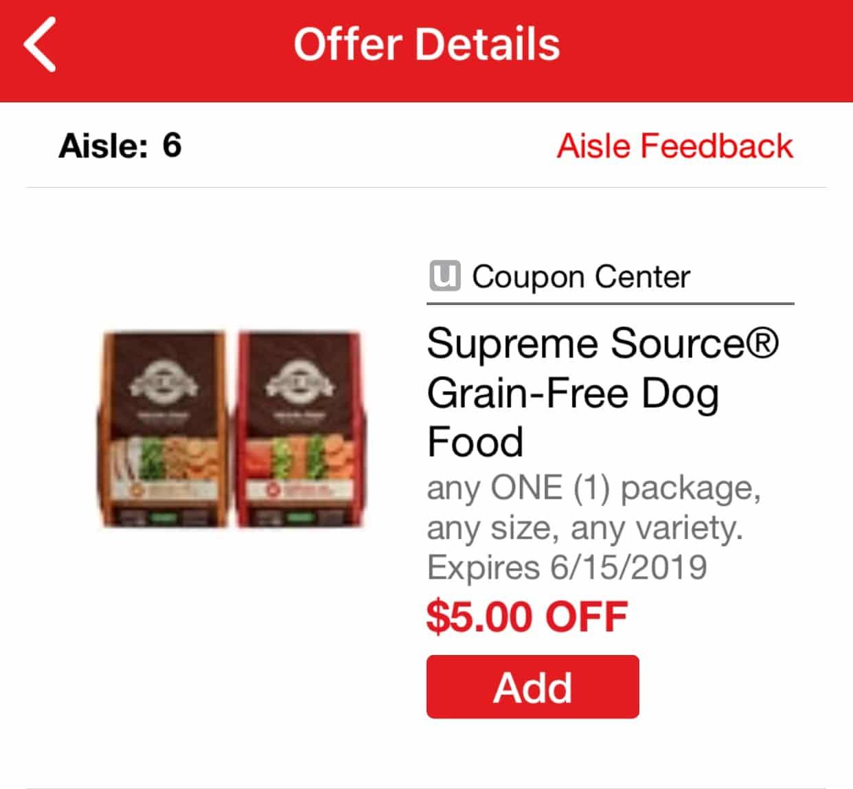 supreme source dog food coupon