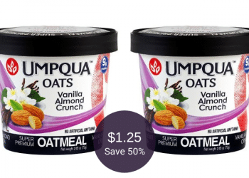 Umpqua Oats Buy 1, Get 1 FREE Sale at Safeway = $1.25 Each | No Artificial ANYTHING