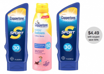 Get Coppertone Sunscreen for Just $4.49 Each at Safeway