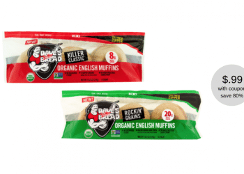 Dave's Killer Bread Organic English Muffins Just $.99 each at Safeway (Reg. $4.99)