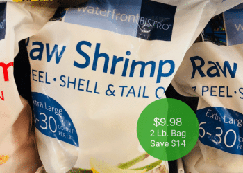 HOT waterfrontBISTRO Shrimp Price at Safeway After Coupon = $9.98 for a 2 Lb. Bag | Save $14