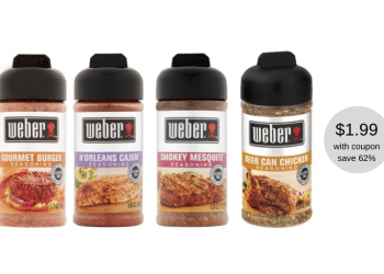 New Weber Seasoning Coupon and Sale, Pay Just $1.99 at Safeway (Reg. $5.19)