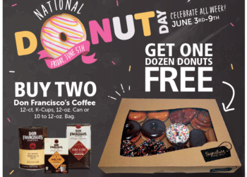 FREE Dozen Donuts When you Buy Don Francisco's Coffee at Safeway
