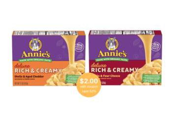 Annie's Deluxe Rich & Creamy Mac and Cheese – New and On Sale at Safeway, Save 52%