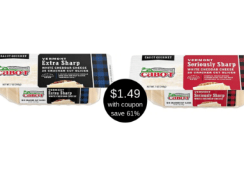 Cabot Cheese Coupon and Sale, Get Cracker Cuts for Just $1.49 at Safeway
