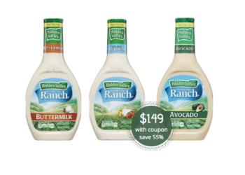 Hidden Valley Coupon, Pay Just $1.49 for Dressing at Safeway