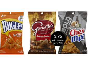Gardetto's Snack Mix, Chex Mix, and Bugles Just 75¢ with NEW Coupon at Safeway