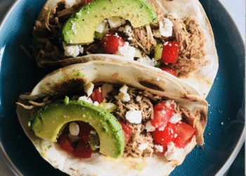 Green Chile Slow Cooker Chicken Tacos Recipe