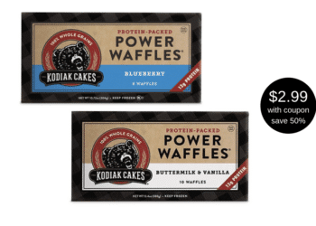 NEW Kodiak Cakes Protein-Packed Power Waffles Coupon and Sale at Safeway, Save 50%
