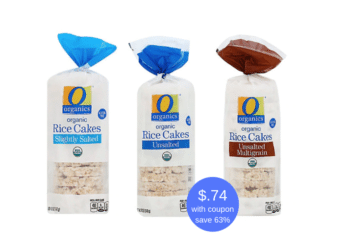 O Organics Organic Rice Cakes Just 74¢ Each With Coupon at Safeway