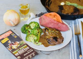 Skillet Bourbon Steak With Creamy Garlic Bourbon Pan Sauce Recipe
