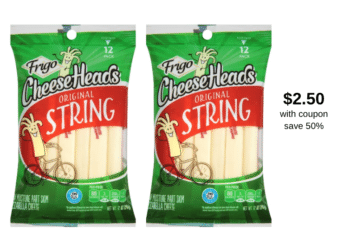 Get Frigo Cheese Heads String Cheese for Just $2.50 With New Coupon at Safeway