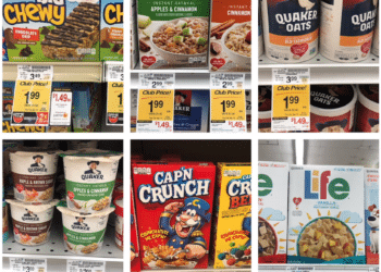 HOT Deals on Quaker Chewy Granola Bars, Cereal, Instant Oatmeal and Oats at Safeway – as Low as $.50