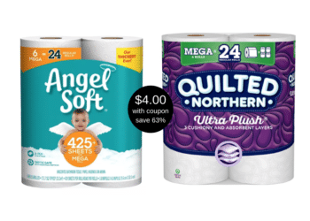 Quilted Northern 12 Double Rolls and Angel Soft 6 Mega Rolls Just $4.00 With Coupons at Safeway