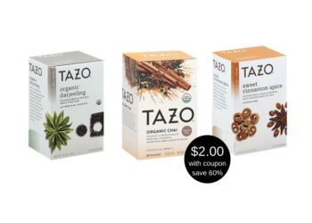 Tazo Tea Products on Sale at Safeway, Pay $2.00 After the Coupon Deal