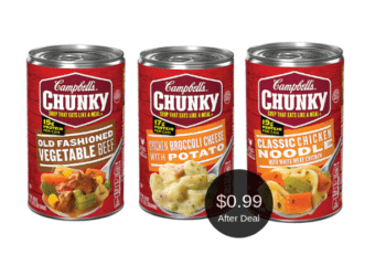Stock up on Campbell's Chunky Soup Cans for Just 99¢ Each at Safeway