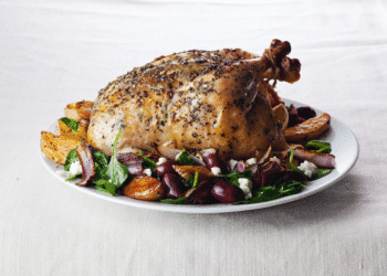 Greek Roasted Chicken With Potatoes and Kalamata Olives